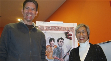 Sci-Fi Stuff<br />Director Sam Burbank, with SFFS programmer Audrey Chang, screened his debut narrative f...
