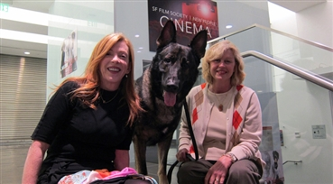 Legacy of Rin Tin Tin<br />Korey, a three-year-old German Shepard and his handler, Dez Murray, coordinator of dog ...