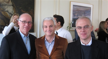 Bienvenuti<br />Bingham Ray, executive director of SF Film Society, Fabrizio Marcelli, consul general o...