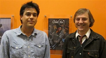 Pro-Labor, Pro-Pluto<br />Director Travis Wilkerson, right, with Sean Uyehara of San Francisco Film Society, was ...